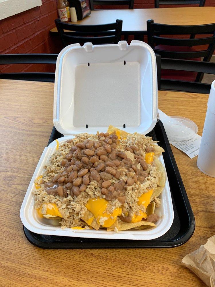 Food from El Pollo Dorado
