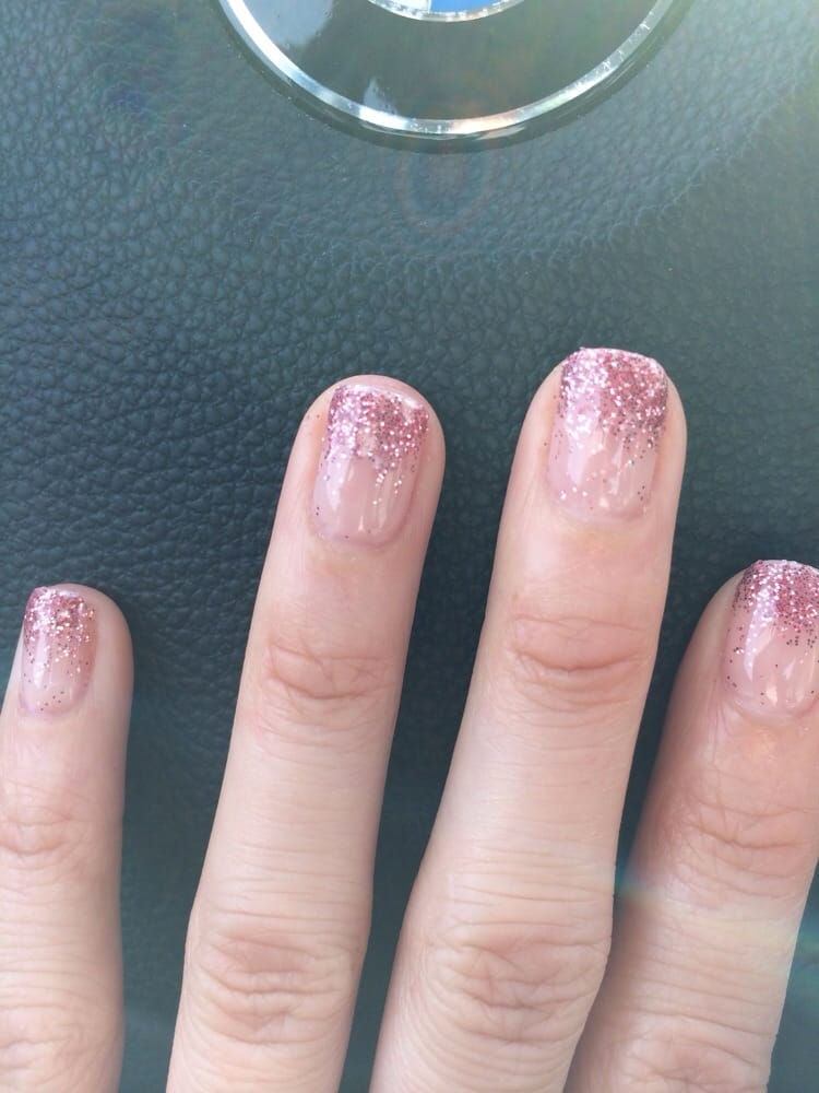 pink glitter ombre nails yelp