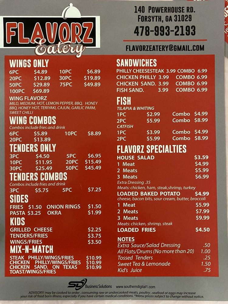 Flavorz Eatery: Forsyth, GA