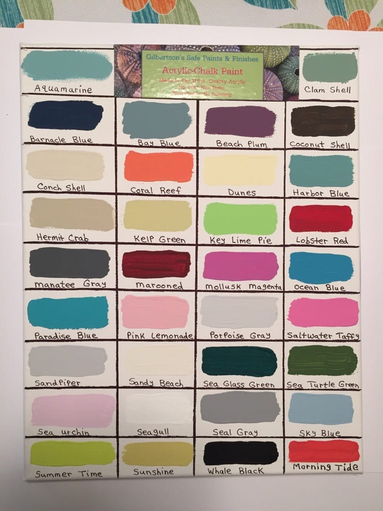 34 Acrylic Chalk Paint Colors To Choose From Sheer Liqwax