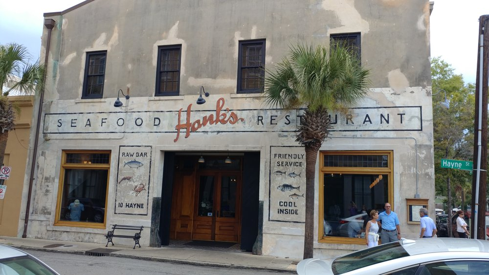 Front of hank 39 s in charleston sc yelp for Fish restaurant charleston sc