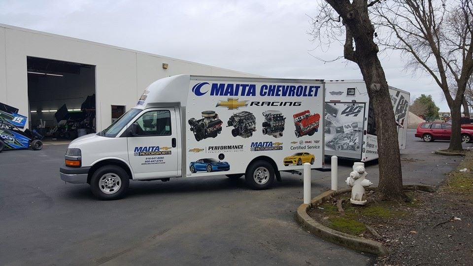Maita Chevrolet Box Truck Wrap - Yelp