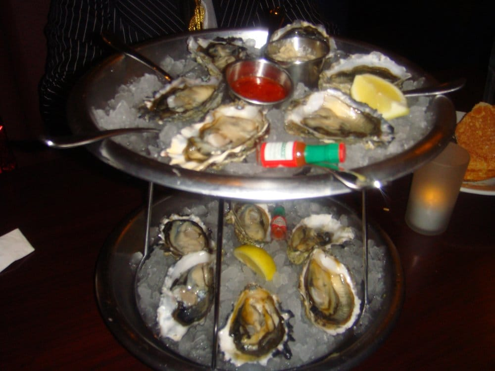 Freshly shucked oysters on the half shell yelp for Rock n fish