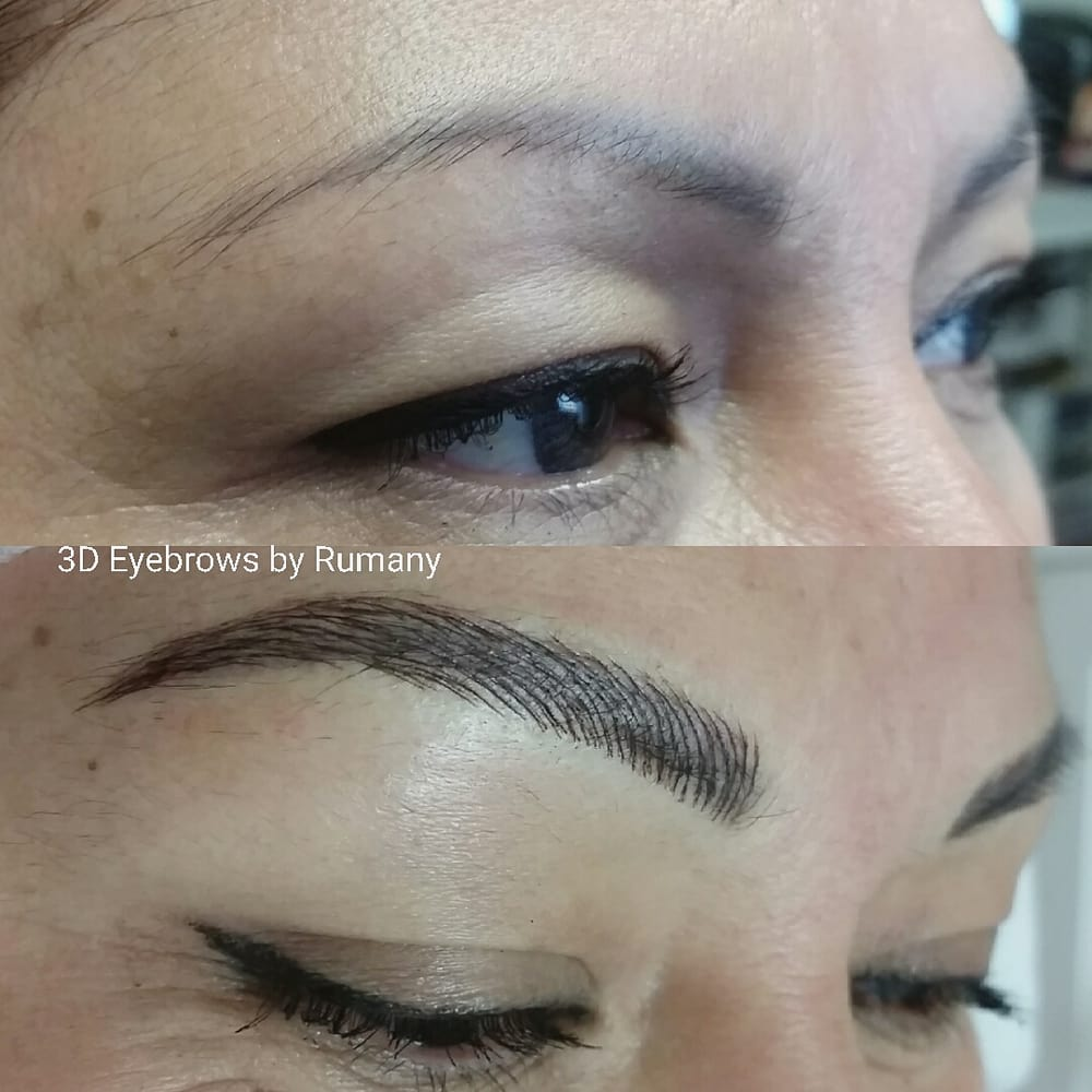 Microblading Eyebrow Over Existing Tattoo Eyebrows By Rumany Not All Permanent Makeup Technique