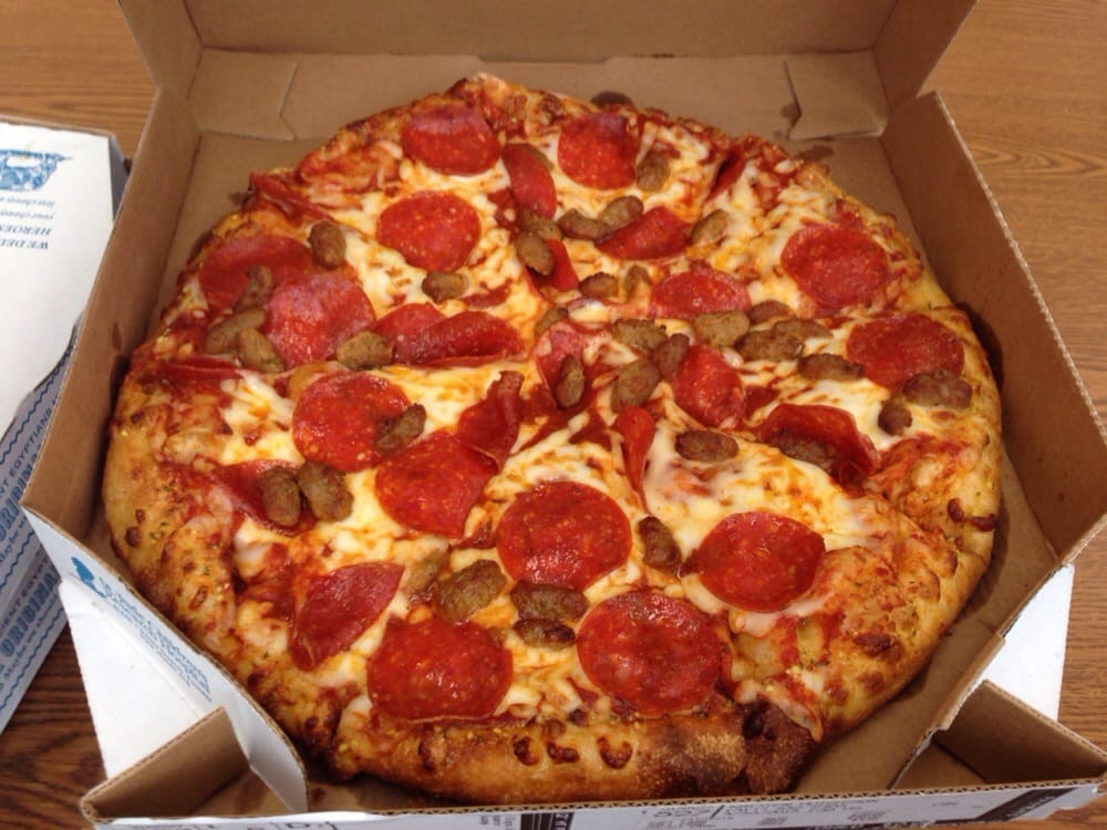 Pepperoni sausage yelp for Domino pizza