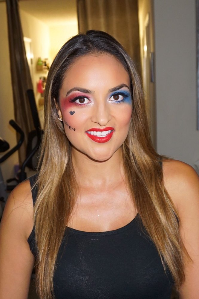 Sexy Harley Quinn Halloween makeup!! It was a perfect look with my ...