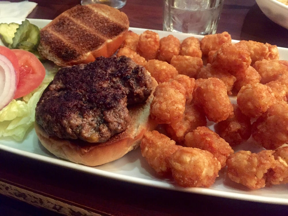 Alehouse Burger With Tater Tots Extra 2bucks With Tots