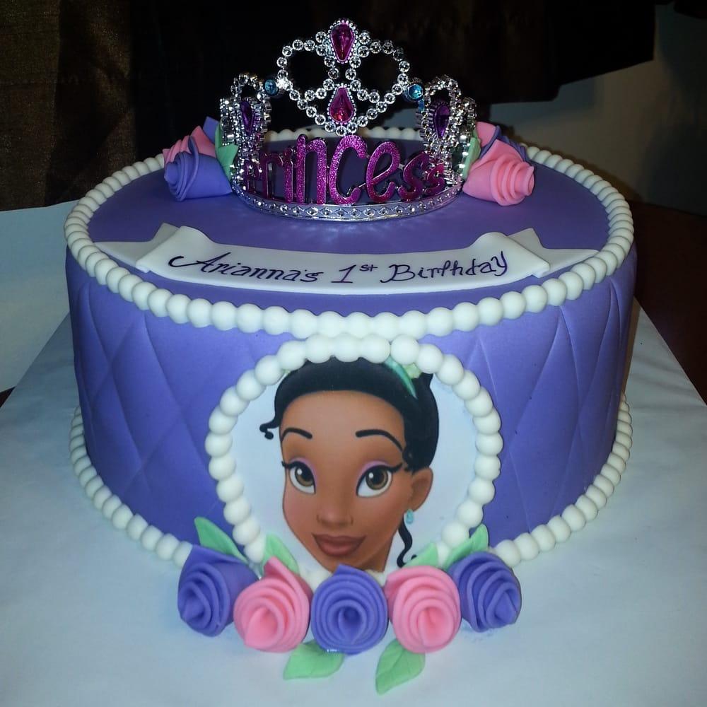 Custom 1 Tier Princess Tiana Cake Yelp