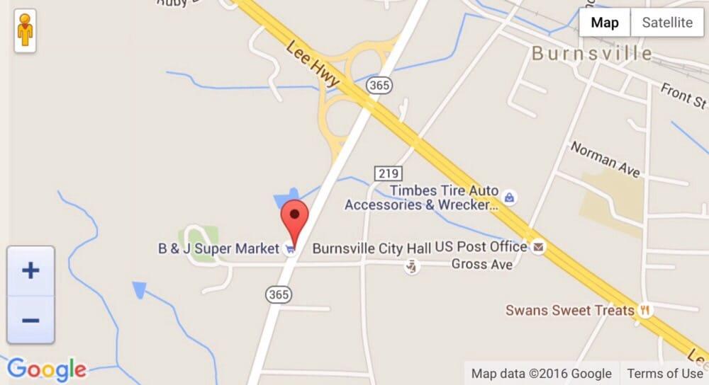 B & J Super Market: 605 S Highway 365, Burnsville, MS