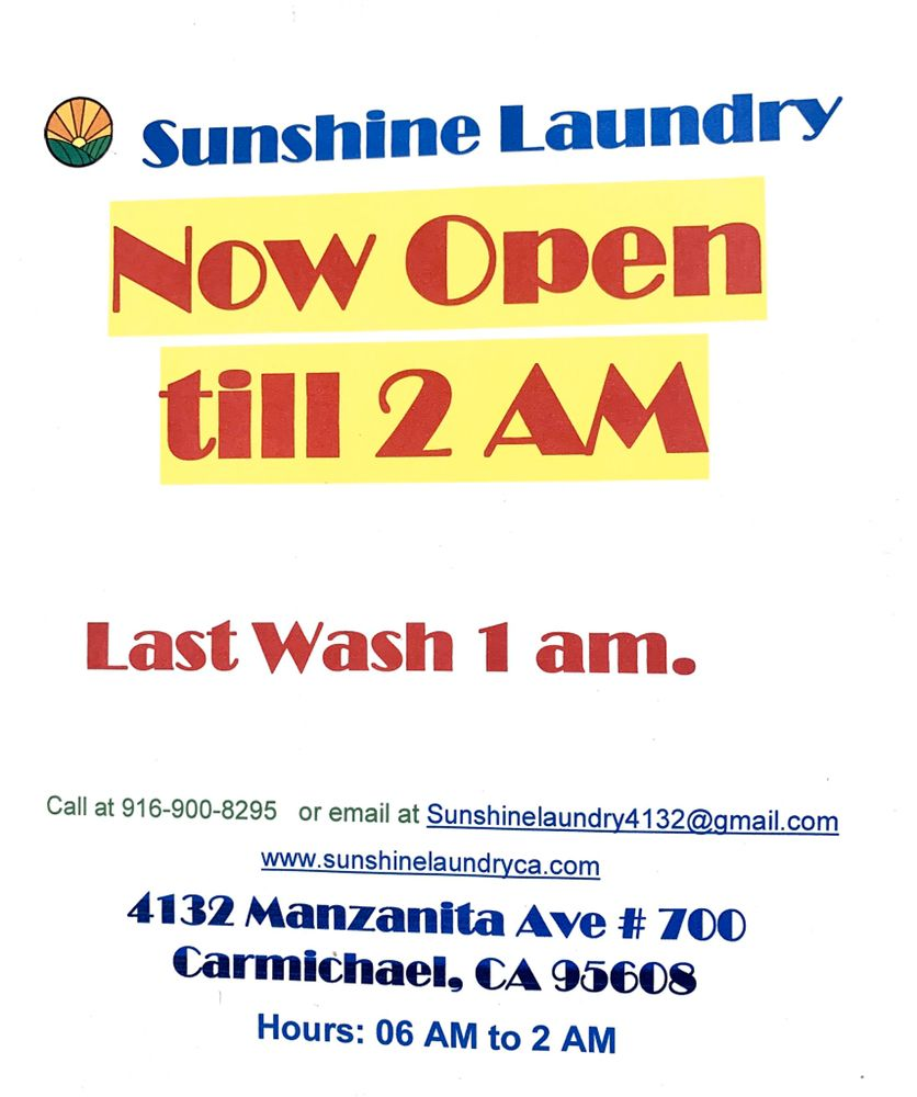Sunshine Laundry: 4132 Manzanita Ave, Carmichael, CA