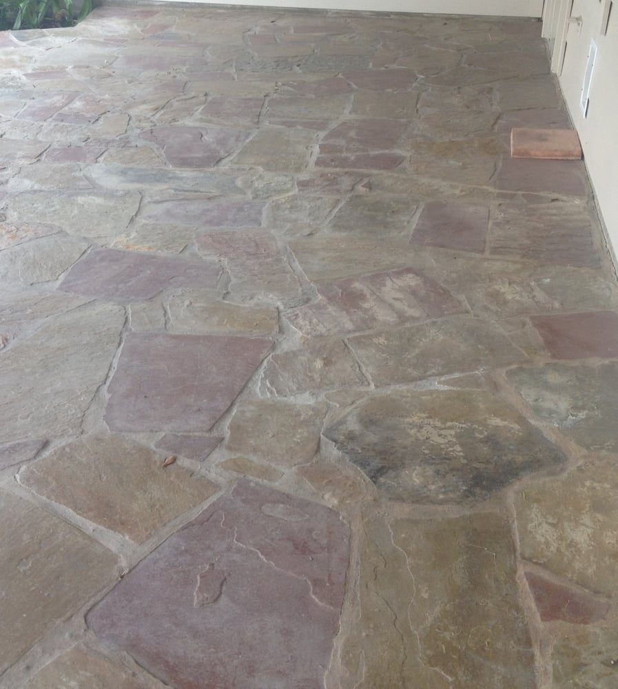 Sealed flagstone patio with dupont yelp Flagstone patios colleyville tx