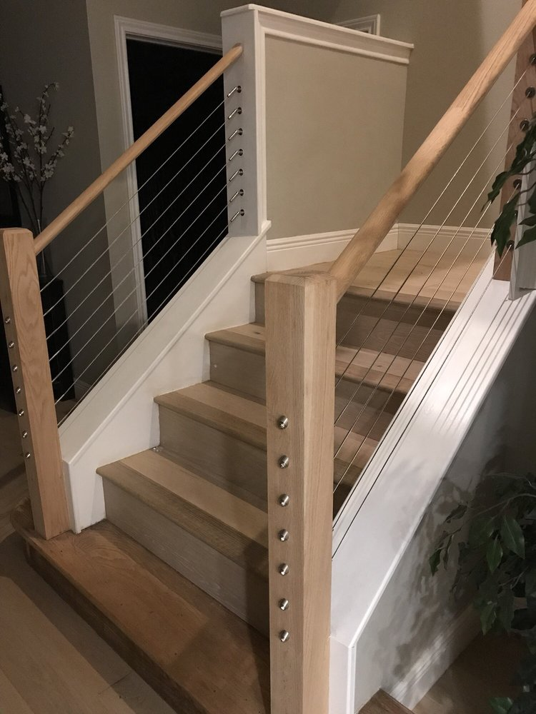 Merveilleux Staircase With Cable Railing   Yelp