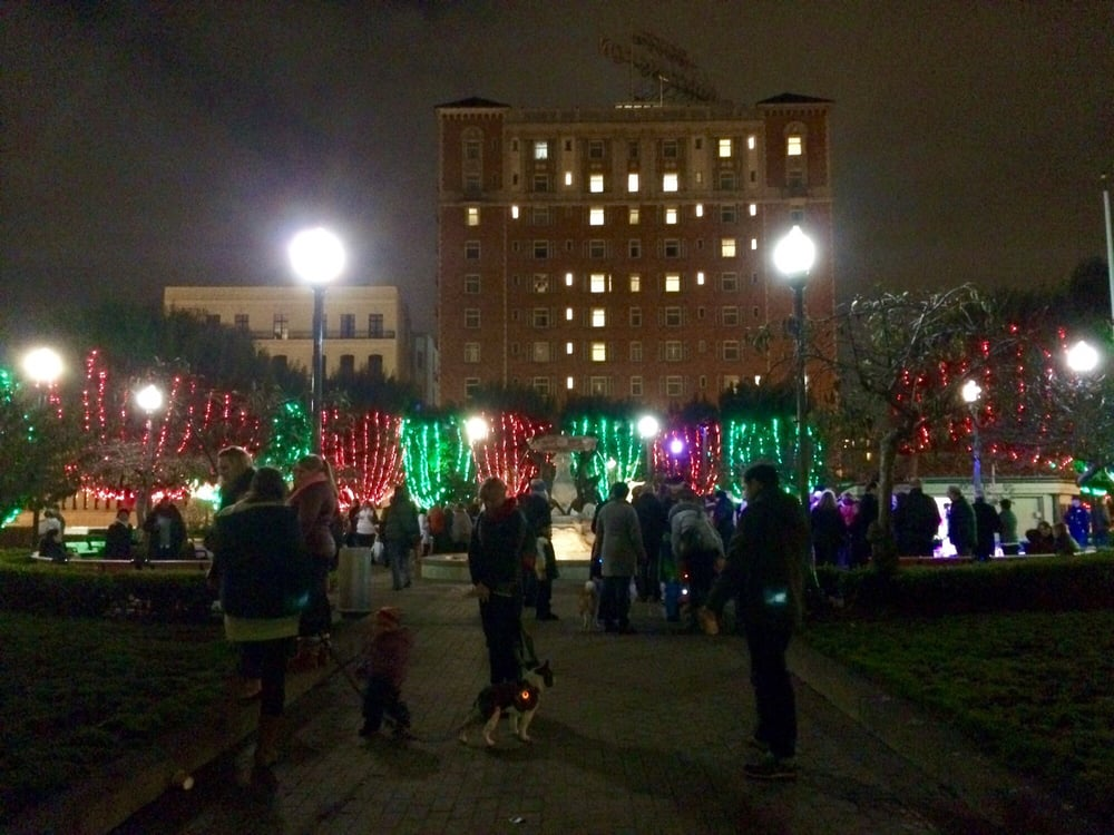 ca united states huntington park tree lighting ceremony 2015