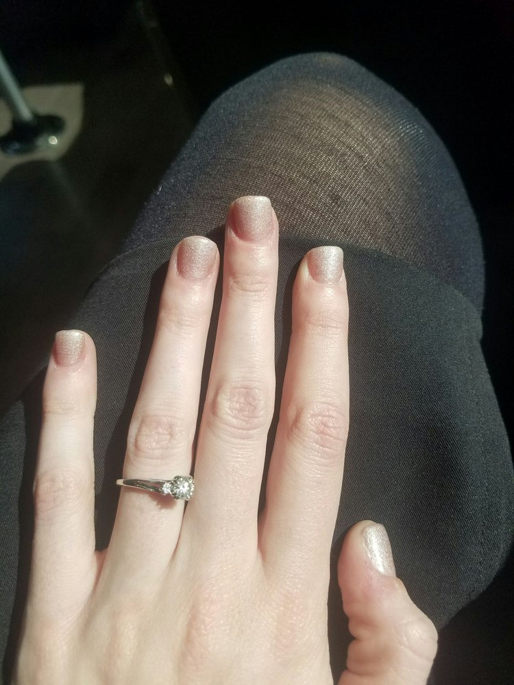 Uneven, super thick acrylic nails. Cuts on fingers from filing too ...