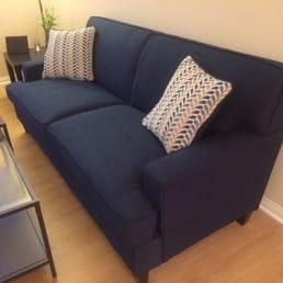 Photo Of NorCal Furniture   Santa Clara, CA, United States. Blue Sofa With