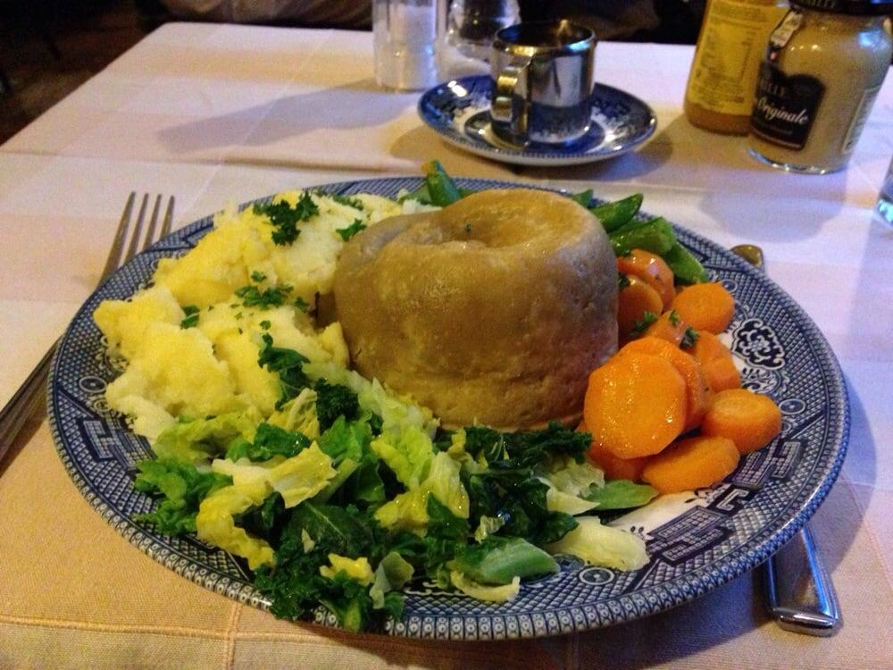 Steamed Suet Steak & kidney pie. £11.95 - Yelp