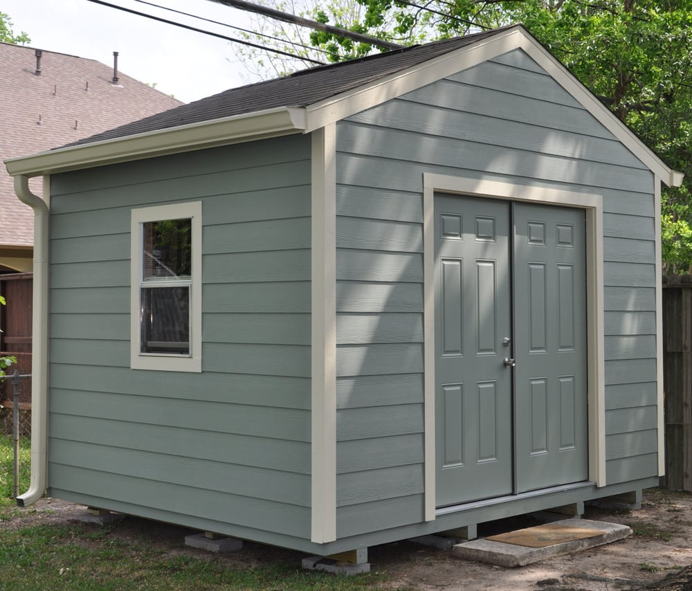 Gable style shed with hardie plank yelp for Gable style shed