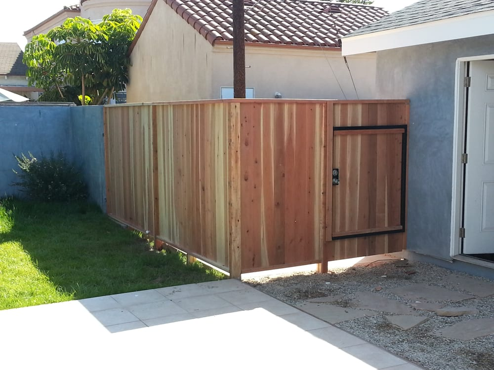 Redwood Tongue And Groove With Steel Framed Gate Yelp
