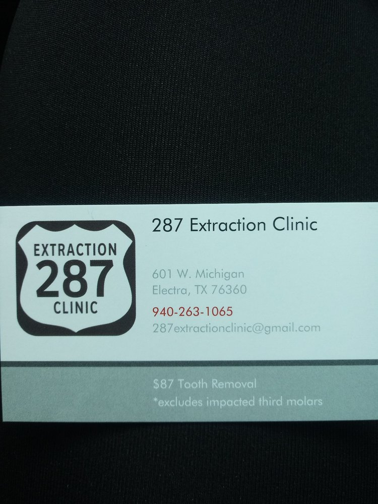 287 Extraction Clinic: 601 W Michigan Ave, Electra, TX