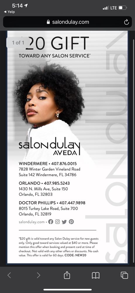 Salon Dulay: 8015 Turkey Lake Rd, Orlando, FL