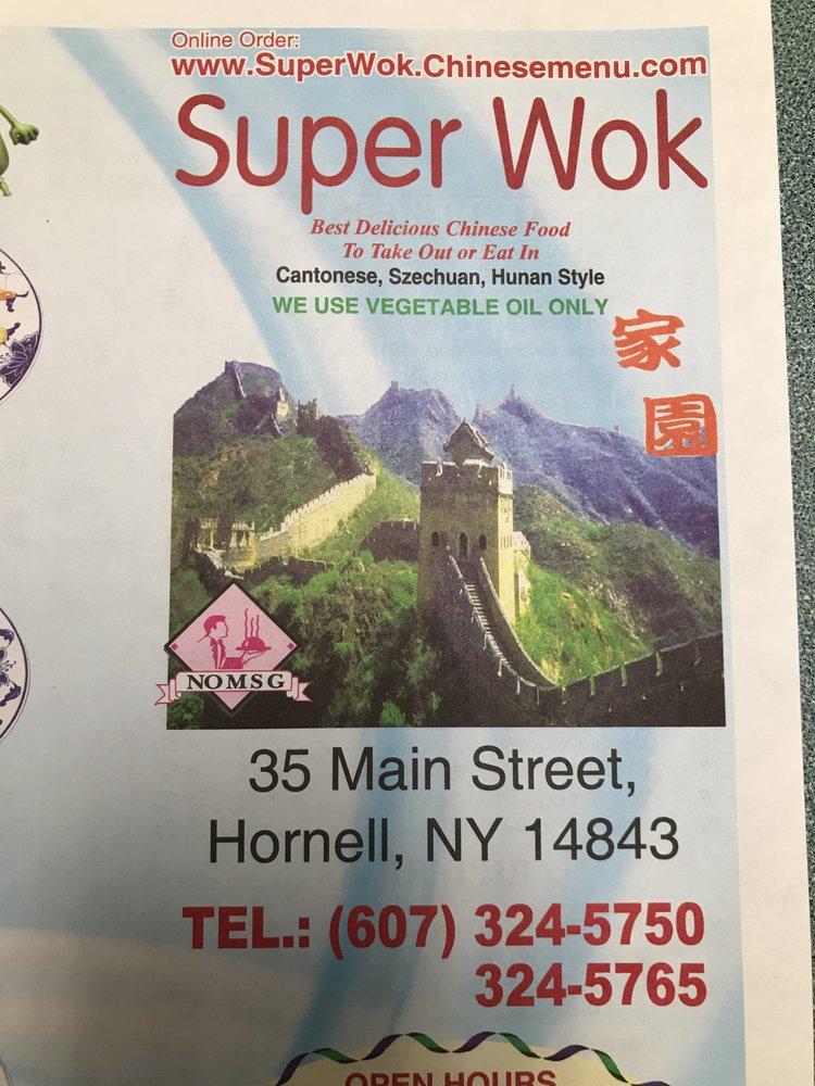 Super Wok: 35 Main St, Hornell, NY