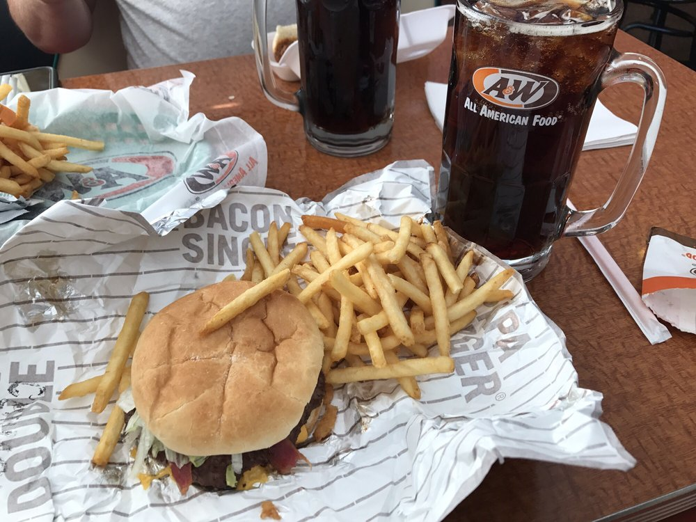 Food from A&W Restaurant