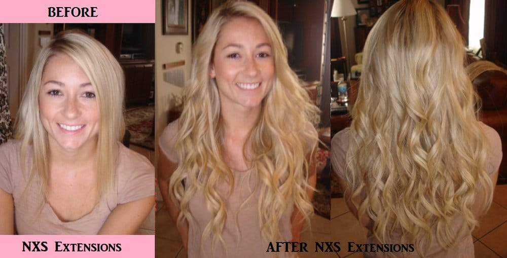 Nxs Hair Extensions Beforeafter Yelp
