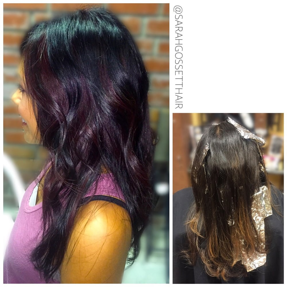 Dark Brown With Plum Peekaboo Highlights Yelp