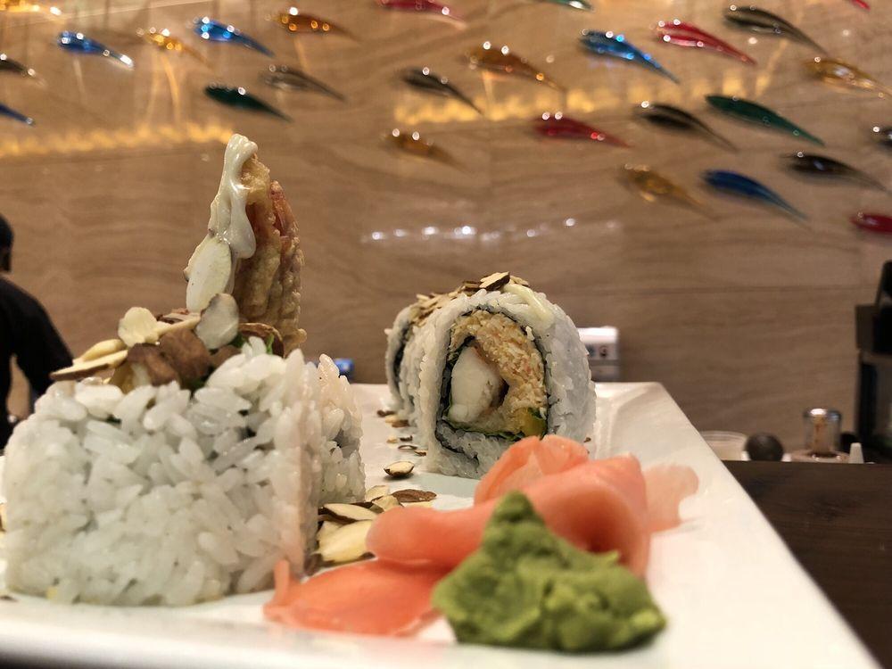 Food from Yamato Hibachi and Sushi