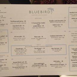 bluebird london menu