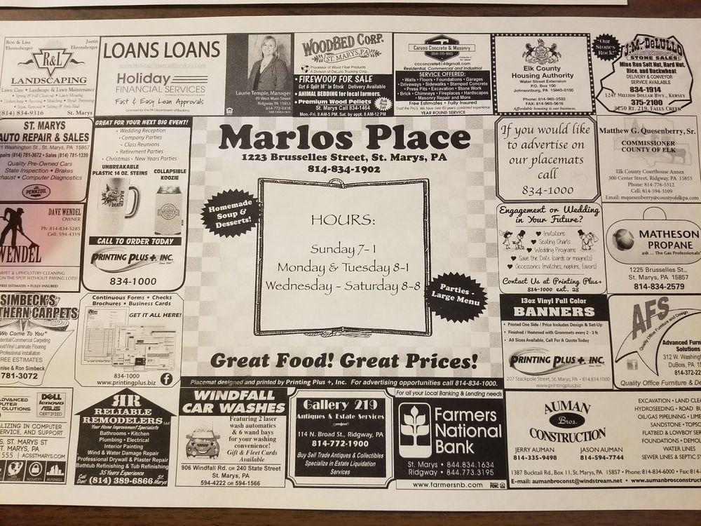 Marlos Place: 1223 Brusselles St, Saint Marys, PA