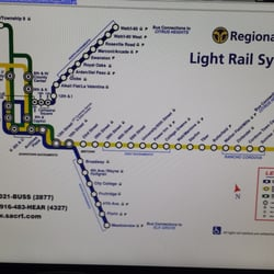 SACRT Light Rail WattI Station Train Stations Watt - Us map i 80