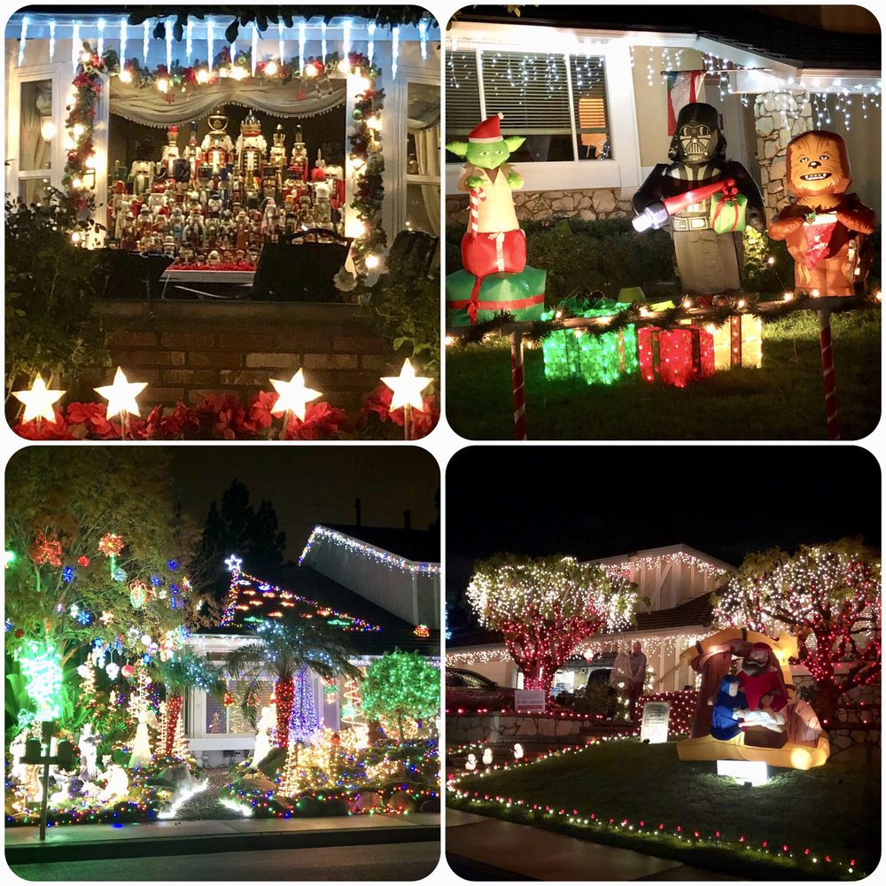 Brea Christmas Light Neighborhood: 2960-2970 Primrose Ave, Brea, CA