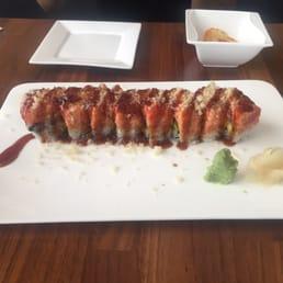 Momoyama Sushi House - Nanuet, NY, United States. Fire Dragon Roll