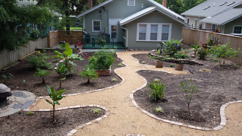 Homegrown landscapes anl gsgartnere 804 lancaster st for Half acre backyard landscaping ideas