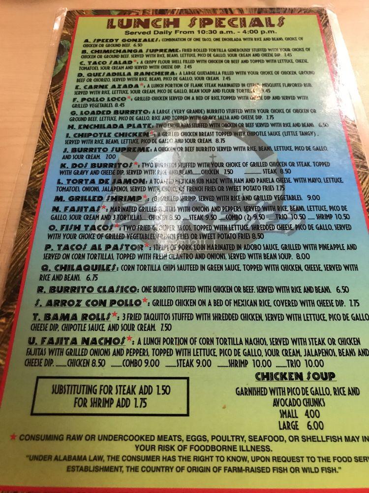 Los Reyes Mexican Grill: York St, Sumiton, AL