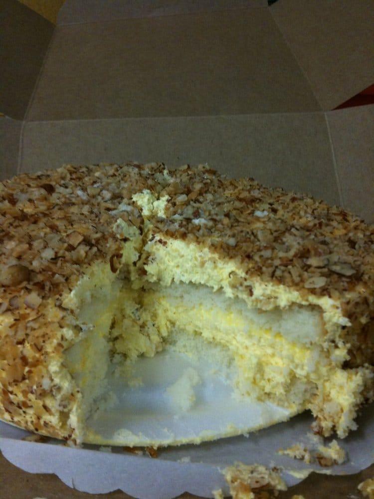 Peters Bakery San Jose Burnt Almond Cake