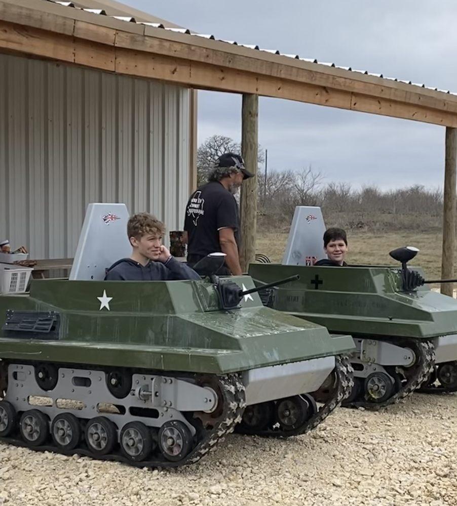 Mini Tank Battlefield: 2467 CR. 243, Hico, TX