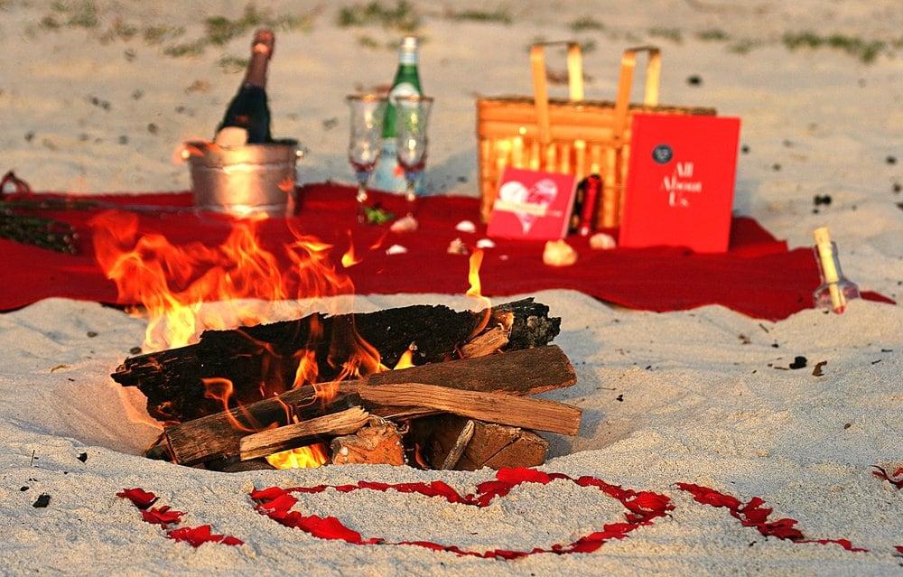 Romantic Beach Bonfire Yelp