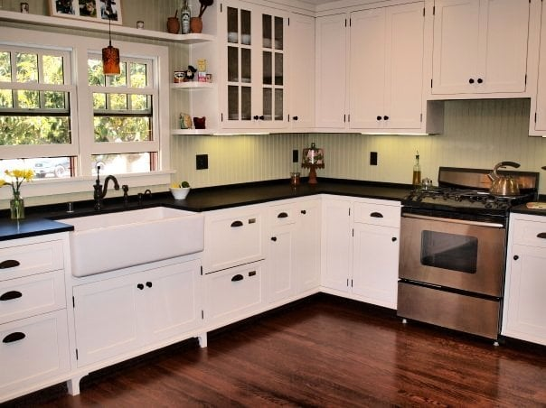 Green country kitchen soapstone countertops energy efficient appliances design features Energy efficient kitchen design