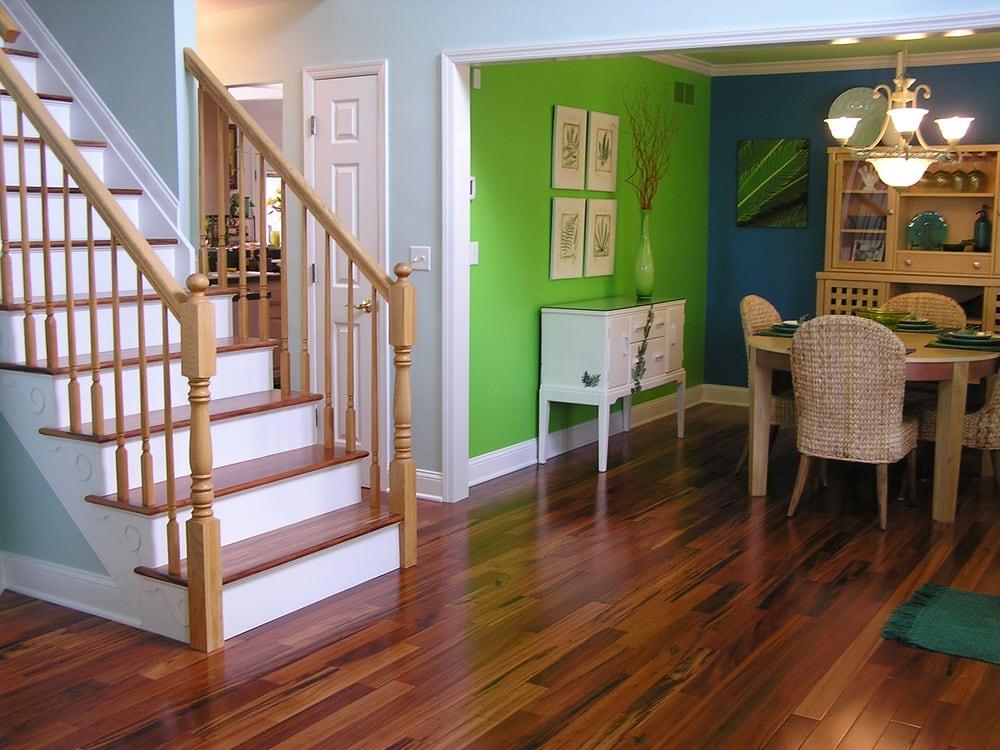 Tigerwood Floor Staircase Burlington Twp Nj Yelp
