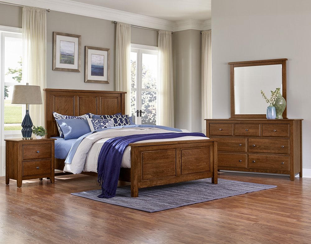 Proudly MADE IN USA. All Solid Wood Bedroom Sets.