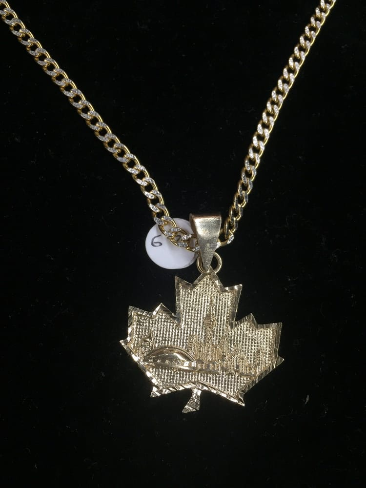 10k gold toronto skyline maple leaf pendant yelp photo of ak jewellery toronto on canada 10k gold toronto skyline maple aloadofball Gallery