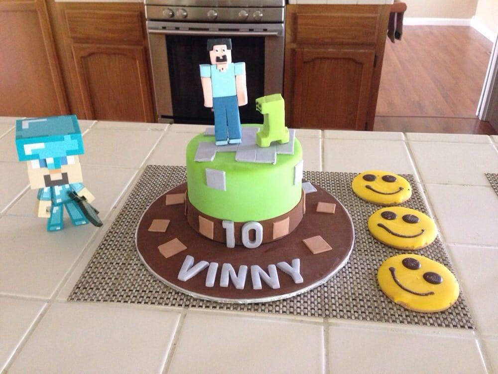 Vinnys 10th Birthday Cake Minecraft And His Favorite Happy