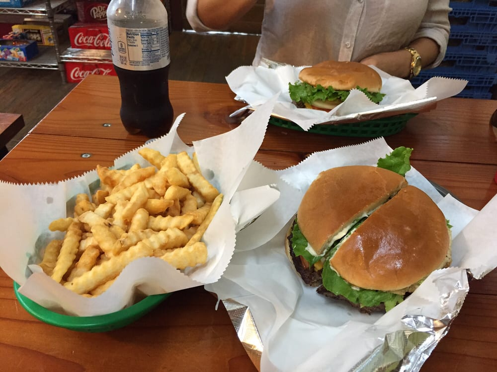 Photo of Andice General Store - Georgetown, TX, United States. Jalapeño Bacon Burger and fries. Great classic burger.