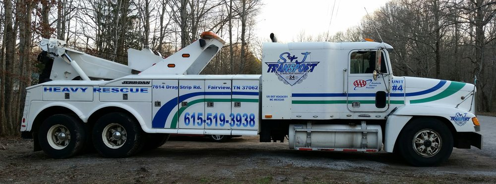 S & J Transport and Wrecker Service: 7614 Drag Strip Rd, Fairview, TN