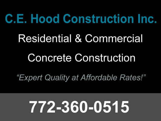Photo Of Ce Hood Construction Vero Beach Fl United States Concrete Contractor