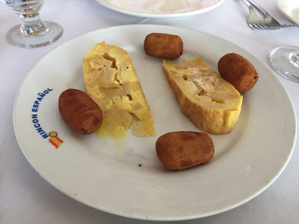 Tortilla Española and Croquetas de pollo - Yelp  Tortilla Españ...