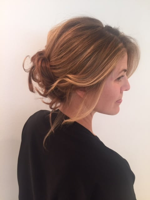 Soft Romantic Updo Accentuating Sunkissed Balayage Around Face Not