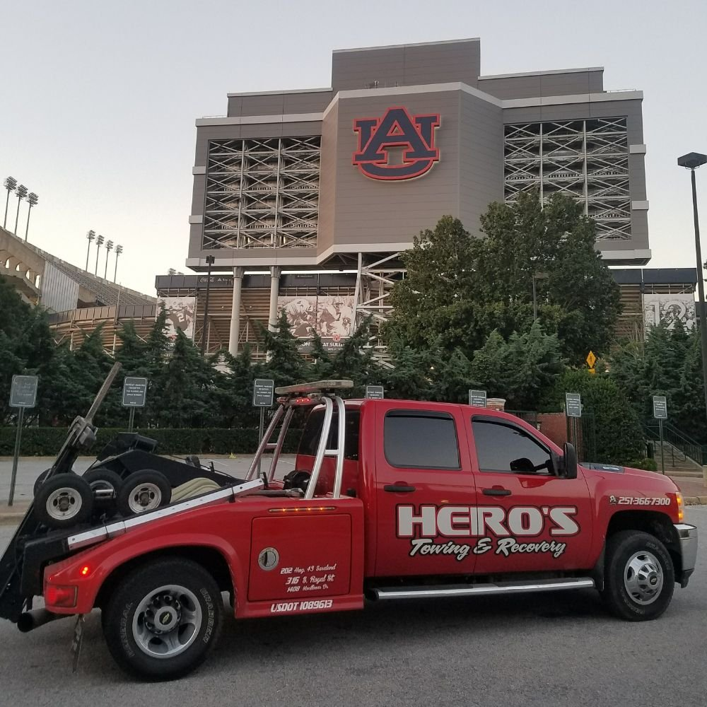 Hero's Towing & Recovery: 202 Saraland Blvd S, Saraland, AL